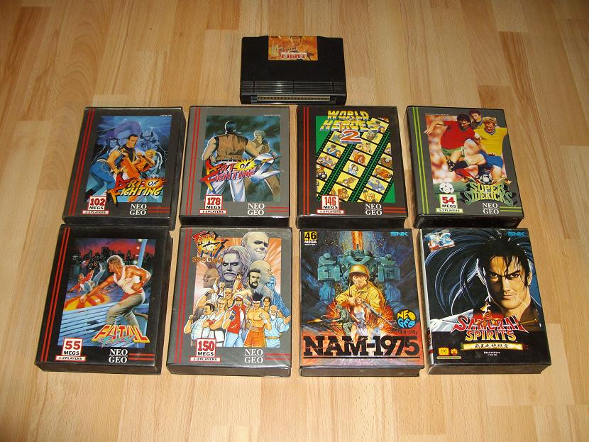 CARTOUCHES NEO-GEO AES