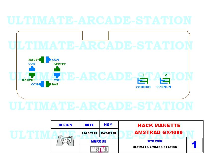 HACK MANETTE AMSTRAD GX4000 (PAD-AS-GX4000)